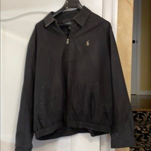Black men's Polo golf or casual jacket.Gently worn